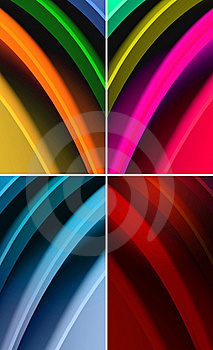 Multicolored Waves Abstract Background Stock Images - Image: 20586044