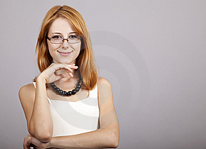Portrait Of Cute Young Redhead Business Woman Royalty Free Stock Photography - Image: 20587317