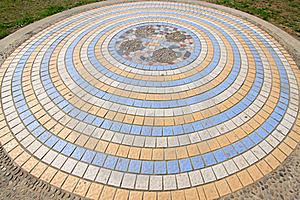 Ceramic Tile Concentric Landscape Architecture Royalty Free Stock Photography - Image: 20588237