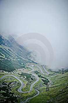 The Transfagarasan Road Seen From Above Stock Images - Image: 20592104
