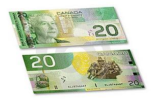 Nota De Banco Canadense Imagem de Stock - Imagem: 20592411
