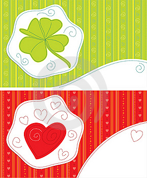 Greeting Cards - Luck, Love Royalty Free Stock Image - Image: 20592506