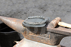 Horseshoe On The Anvil. Royalty Free Stock Images - Image: 20593569
