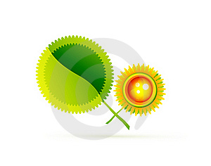 Sun With Leaves. Nature Concept Stock Image - Image: 20594041