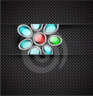 Transparent Glass Shapes On Carbon Texture Stock Photos - Image: 20594463