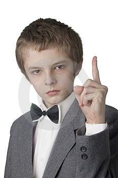 Warning Boy Royalty Free Stock Photography - Image: 2063017