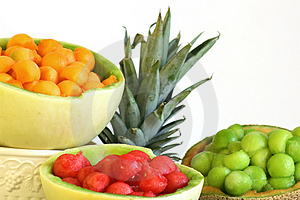 Melon Ball Display Copyspace Stock Photo - Image: 2064060