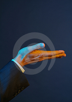 Holding hand Stock Images