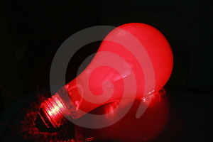 Red Light Blub 1 Royalty Free Stock Photo - Image: 2067715