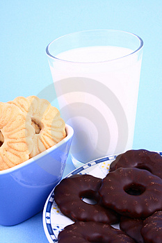 Cookie Nad Milk Stock Photo - Image: 2068820