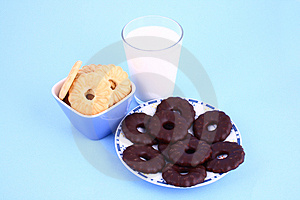 Cookie Nad Milk Stock Photography - Image: 2068832