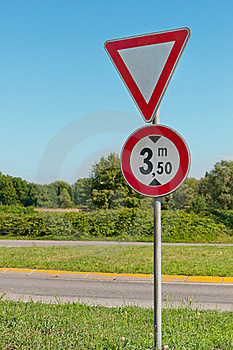 Attention Road Sign Stock Photography - Image: 20603142