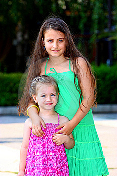 Two Little Girls ( Sisters ) Stock Photos - Image: 20604943