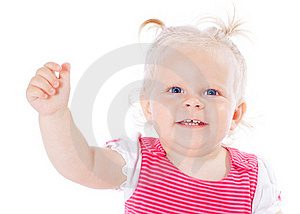Funny Little Girl Royalty Free Stock Images - Image: 20605899