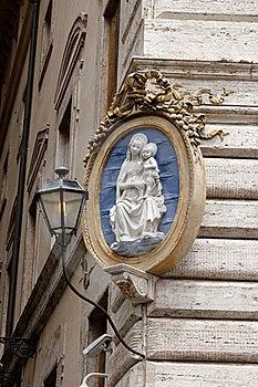 Religious Plaque Stock Image - Image: 20611121