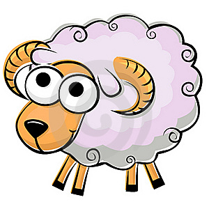 Funny Fluffy Sheep Stock Images - Image: 20613194