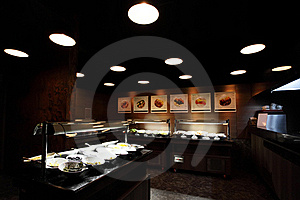 Self-service Restaurant Interior Royalty Free Stock Images - Image: 20613309