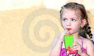 Little Girl Drinking Stock Photography - Image: 20614482