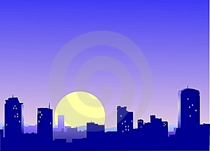 Sity Sunrise Stock Photos - Image: 20615473