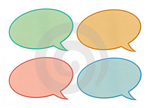 Paper Speech Bubbles Royalty Free Stock Image - Image: 20618046