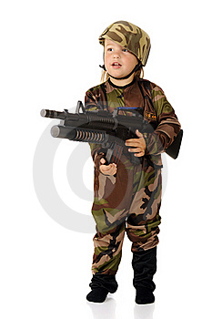 Soldier At The Ready Royalty Free Stock Photography - Image: 20619397