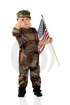 Tiny Homesick Soldier Royalty Free Stock Images - Image: 20619409