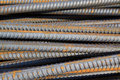 Twisted steel construction materials Stock Images