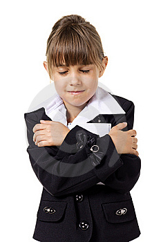 Little School Girl In Uniform Stock Photography - Image: 20620742