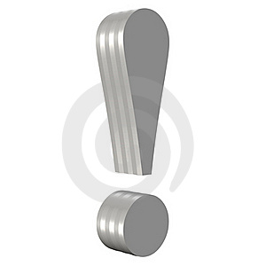 Metal Exclamation Mark Stock Photo - Image: 20622630