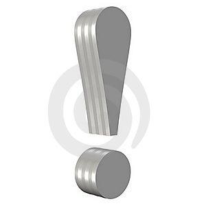 Metal Exclamation Mark Stock Photo - Image: 20622630