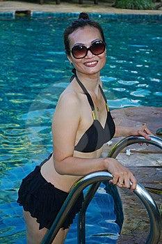 Woman In Black Bikini Stock Images - Image: 20624214