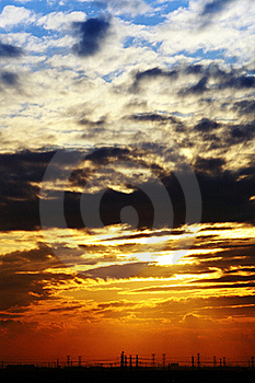 Sunset light Royalty Free Stock Images