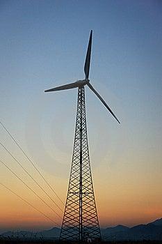 Energía Eólica, Palm Spring, California Foto de archivo - Imagen: 20626760