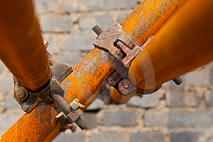 Rusty Scaffold In A Construction Site Royalty Free Stock Image - Image: 20627306