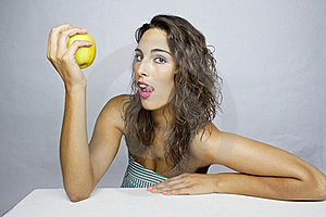 Eating An Apple Royalty Free Stock Image - Image: 20629966