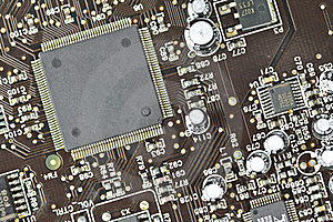 The Printed-circuit Board, Electronic Components Stock Images - Image: 20633004