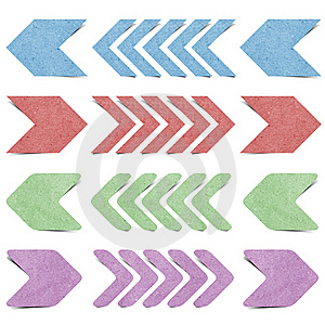 Isolated Arrow Recycled Paper Craft Royalty Free Stock Photos - Image: 20634018