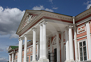 Kuskovo Estate. View Of The Ducal Palace' Facade Royalty Free Stock Image - Image: 20636166