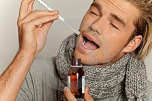 Taking Medicine Royalty Free Stock Photo - Image: 20637355