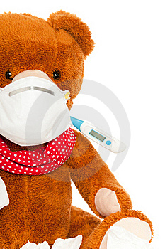 Bear With Thermometer And Mask Stock Photos - Image: 20638213