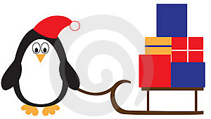 Penguin With Presents Royalty Free Stock Photography - Image: 20639997