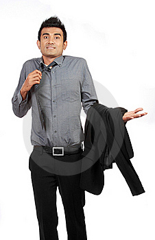 Portrait Of Businessman Gesturing Do Not Know Sign Stock Images - Image: 20642094