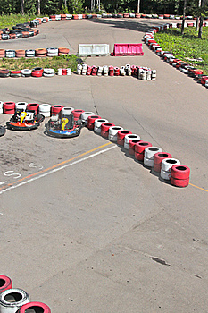 Line For Go-kart Royalty Free Stock Photo - Image: 20642095