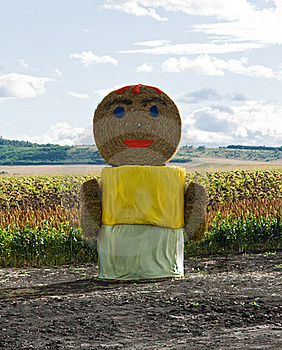 Straw Woman Staying On The Field Stock Photography - Image: 20643622