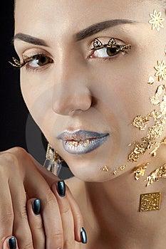 Close-up Portrait Of Beautiful Brunette Royalty Free Stock Image - Image: 20644096