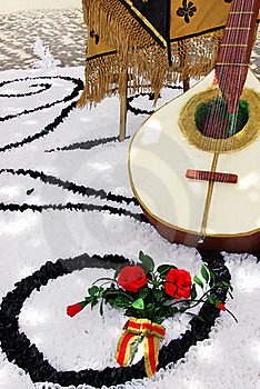 Decoration Of Portuguese Guitar Stock Images - Image: 20644274