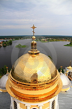 Golden Cupola Of Church Stock Photo - Image: 20644310