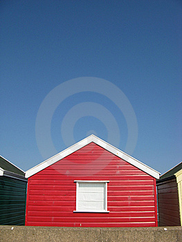 Red Beach Hut In Suffolk Royalty Free Stock Photo - Image: 20644815