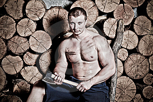 Man With Hatchet Stock Photo - Image: 20644970
