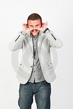 Very Happy Successful Gesturing Businessman Stock Photography - Image: 20645532